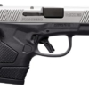 """MOSSBERG MC1 SEMI AUTOMATIC PISTOL 9MM LUGER 3.4"""" BARREL 6 ROUND CAPACITY BLACK FRAME STAINLESS STEEL SLIDE - MILLER ARMORY"""