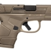 """MOSSBERG, MC1, SEMI-AUTOMATIC PISTOL, SUB-COMPACT, STRIKER FIRED, 9MM, 3.4"""" BARREL, POLYMER FRAME, FLAT DARK EARTH FINISH, 1:16 TWIST, 2 MAGS, 1-6RD, 1-7RD, AMBIDEXTROUS, NON-MANUAL SAFETY, 3 DOT SIGHT - MILLER ARMORY"""