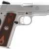 """Buy Ruger SR1911 Standard 45 ACP 4.25"""" 8+1 Wood Grips Stainless Finish - Miller Armory"""