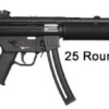 """Buy Walther MP5 Semi-automatic 22LR 16.1"""" Black Collapsible Stock 10Rd Adjustable Sights 578-03-11-10 - Miller Armory"""