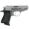 """Buy Walther VAH38002 PPK SA/DA 380 ACP 3.35"""" 6+1 Black Syn Grip Stainless - Miller Armory"""