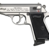 """Buy Walther VAH32001 PPK/S SA/DA 32 ACP 3.35"""" 8+1 Black Syn Grip Stainless - Miller Armory"""