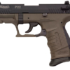 """Buy Walther WAN22007 P22 No Lock 22 Long Rifle 3.4"""" 10+1 Synthetic Grip Olive Drab - Miller Armory"""