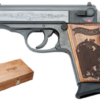 """Buy Walther PPK/S 380 ACP 3.35"""" 6+1 Engraved Wood Grip & Bright Bbl w/Case - Miller Armory"""